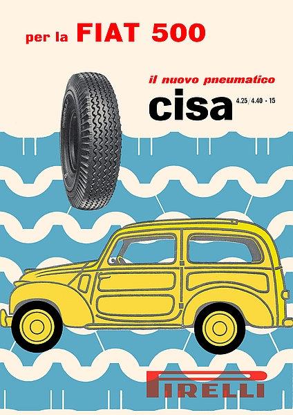 Pirelli with per la Fiat 500, il nuovo pneumatico Sign