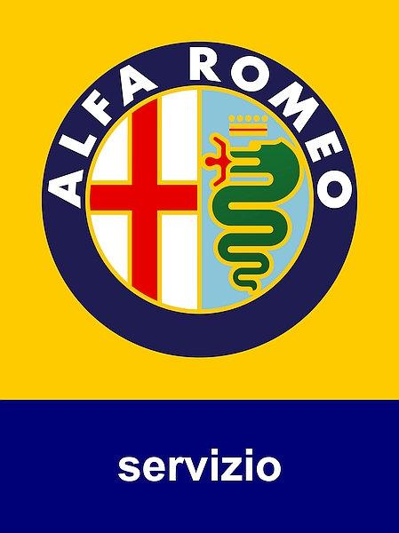 Alfa Romeo Servizio metal sign