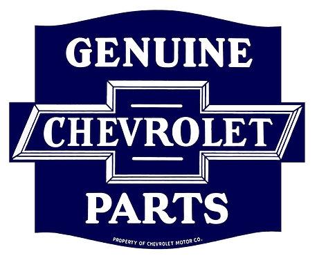 Genuine Chevrolet Parts metal sign