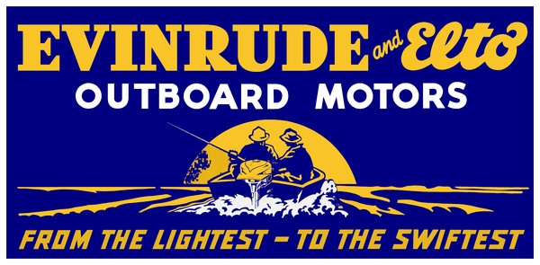 Evinrude-Elto Outboard Motor Sign