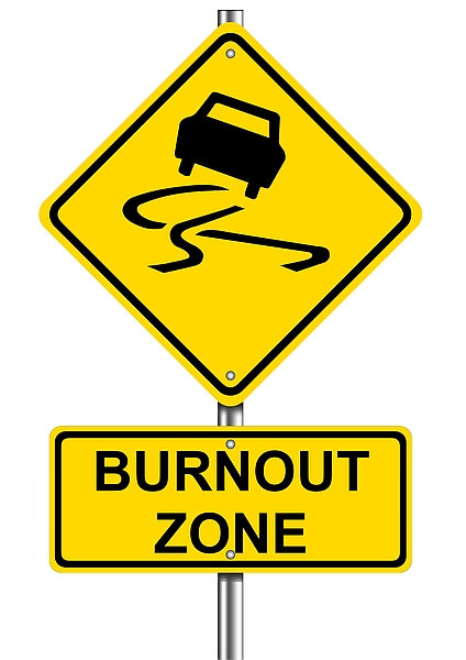 Burnout Zone Road Sign Sign