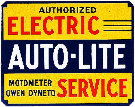 Electric Auto-Lite Service metal sign