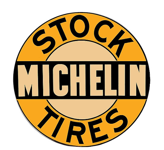 Early Michelin Stock Tires metal sign