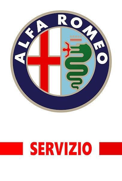 Alfa Romeo Servizio (red) metal sign