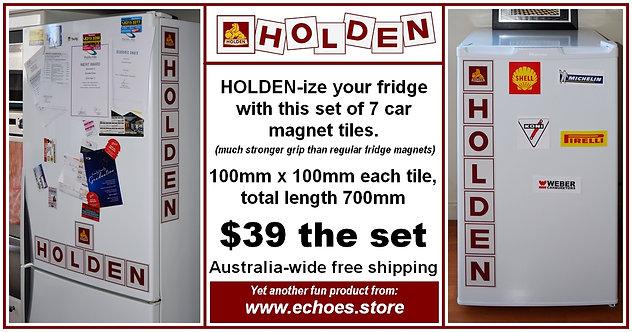Holden multi-tile car magnets set