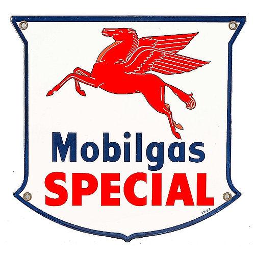 Mobilgas Special metal sign