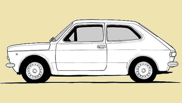 Fiat 127 Drawing metal sign