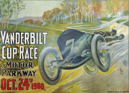 Vanderbilt Cup Race 1908 sign