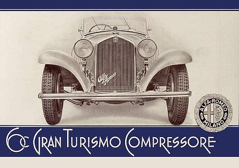 Alfa Romeo 6C Gran Turismo Compressore A3 Sign