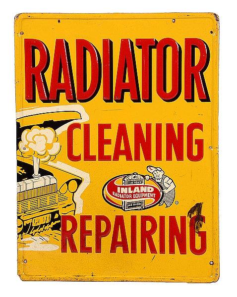Radiator Cleaning Repairing metal sign