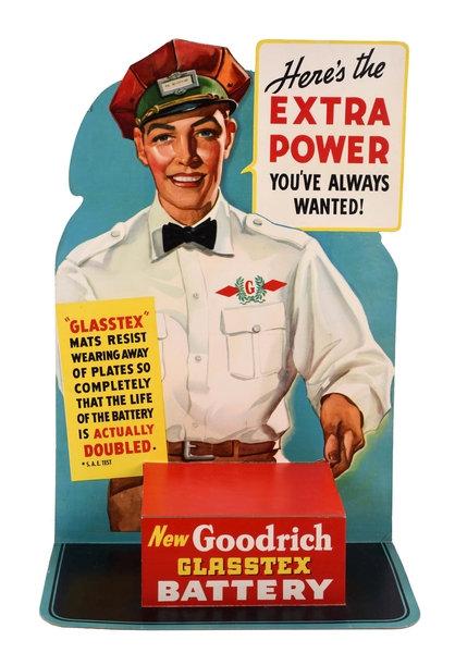 Goodrich Battery sign c. 1950's