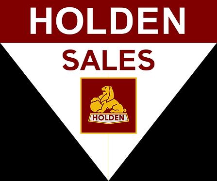Holden Sales Pennant Shape Sign
