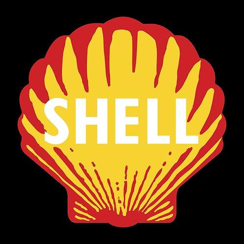 Shell (black background) sign