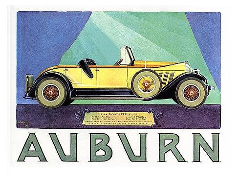 Auburn Automobile metal sign