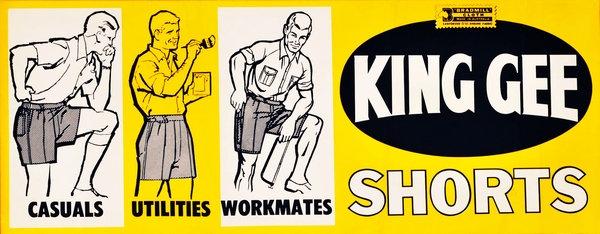 King Gee Shorts advert