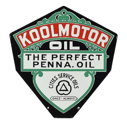 Koolmotor Oil metal sign