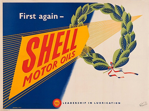 First Again - Shell Motor Oils sign