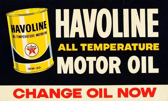 Havoline Oil sign