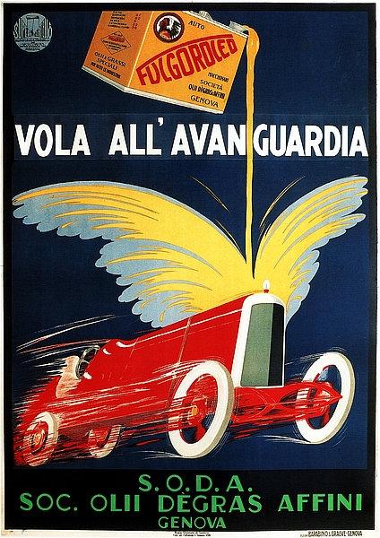 Fulgoroled Vola All'Avan Guardia A3 Sign