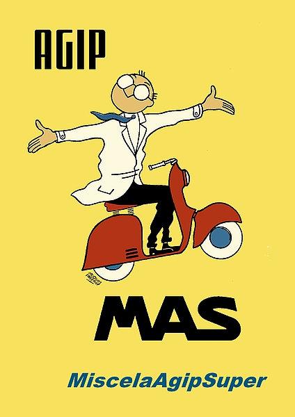 Agip MAS MiscelaAgipSuper A3 Sign