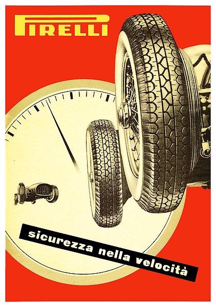 Pirelli sicurezza nella velocita Sign