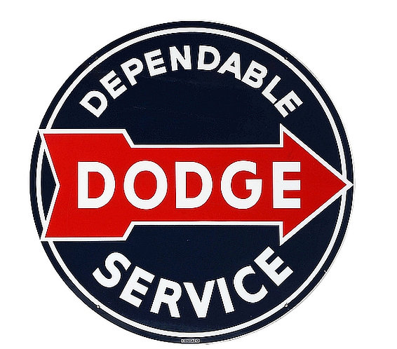 Early Dodge Service metal sign
