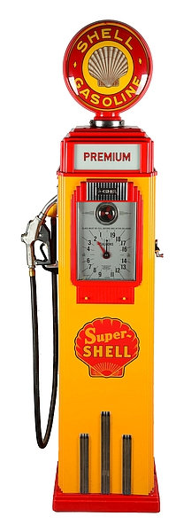 Shell Petrol Pump metal sign