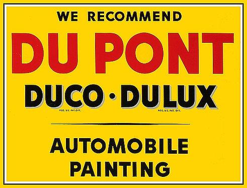 Du Pont Automobile Painting sign