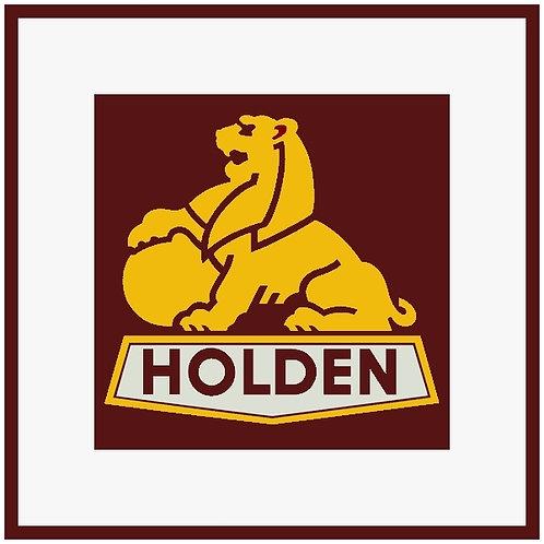 Holden Lion (square) sign