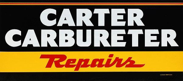 Carter Carburetor Repairs metal sign
