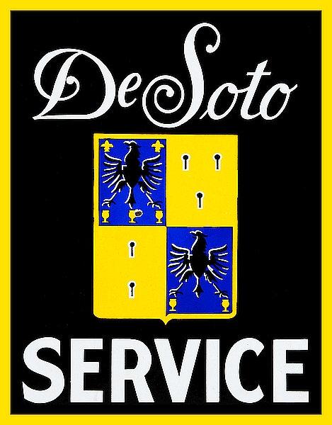 De Soto Service metal sign