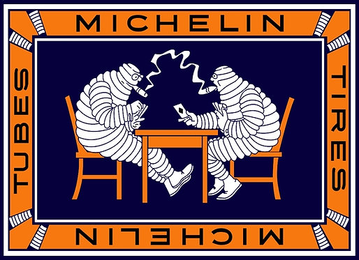 Very early Michelin design for a deck of playing cards