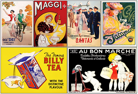 Finer Things Vintage Adverts - 6 magnet set