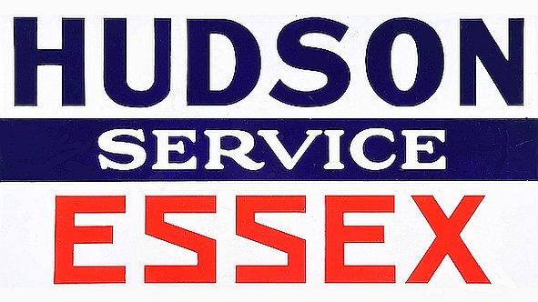 Hudson & Essex Service metal sign