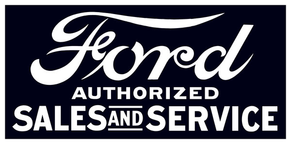 Ford - Authorized Sales and Service sign