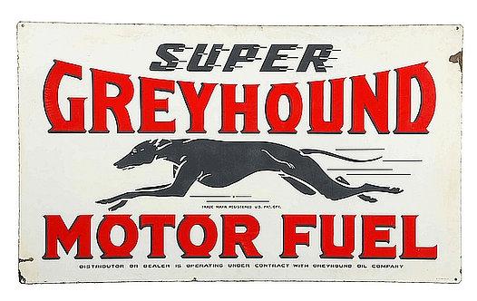 Super Greyhound Motor Fuel metal sign