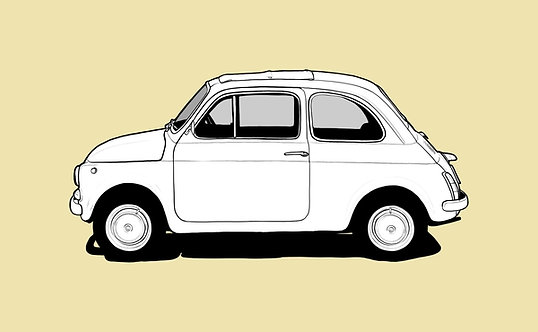 Fiat 500 Drawing sign