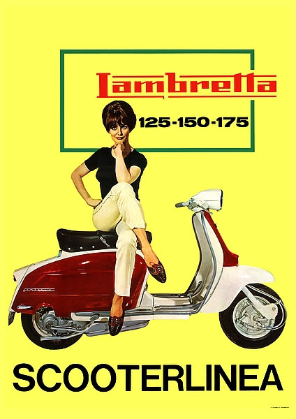 Lambretta Scooterlinea A3 Sign