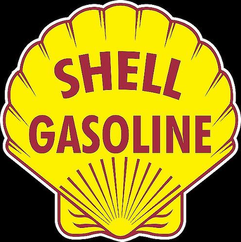 Shell Gasoline metal sign