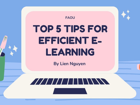 TOP 5 TIPS FOR EFFICIENT E-LEARNING