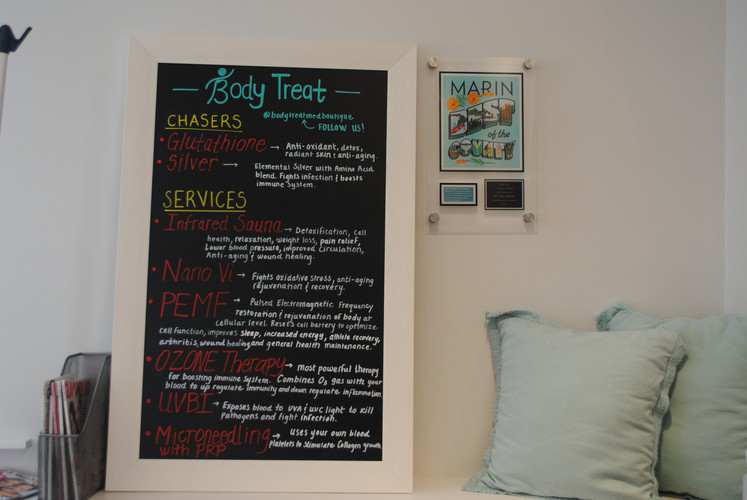 Enjoy our happy upbeat environment at Body Treat in Marin