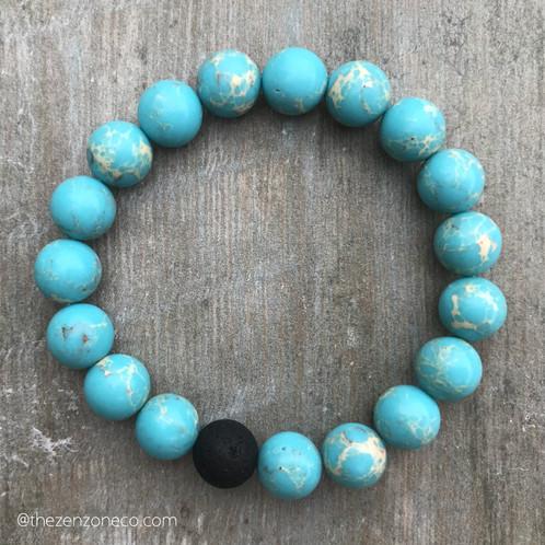 Sky Blue Imperial Jasper Bracelet