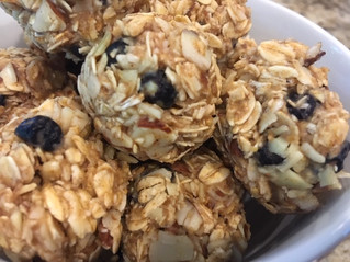 No-Bake Blueberry Almond Energy Snack