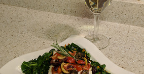 Lemon Butter Haddock with Gingered Curry Collard Greens