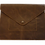 Thumbnail: Pochette Enveloppe cuir col brun