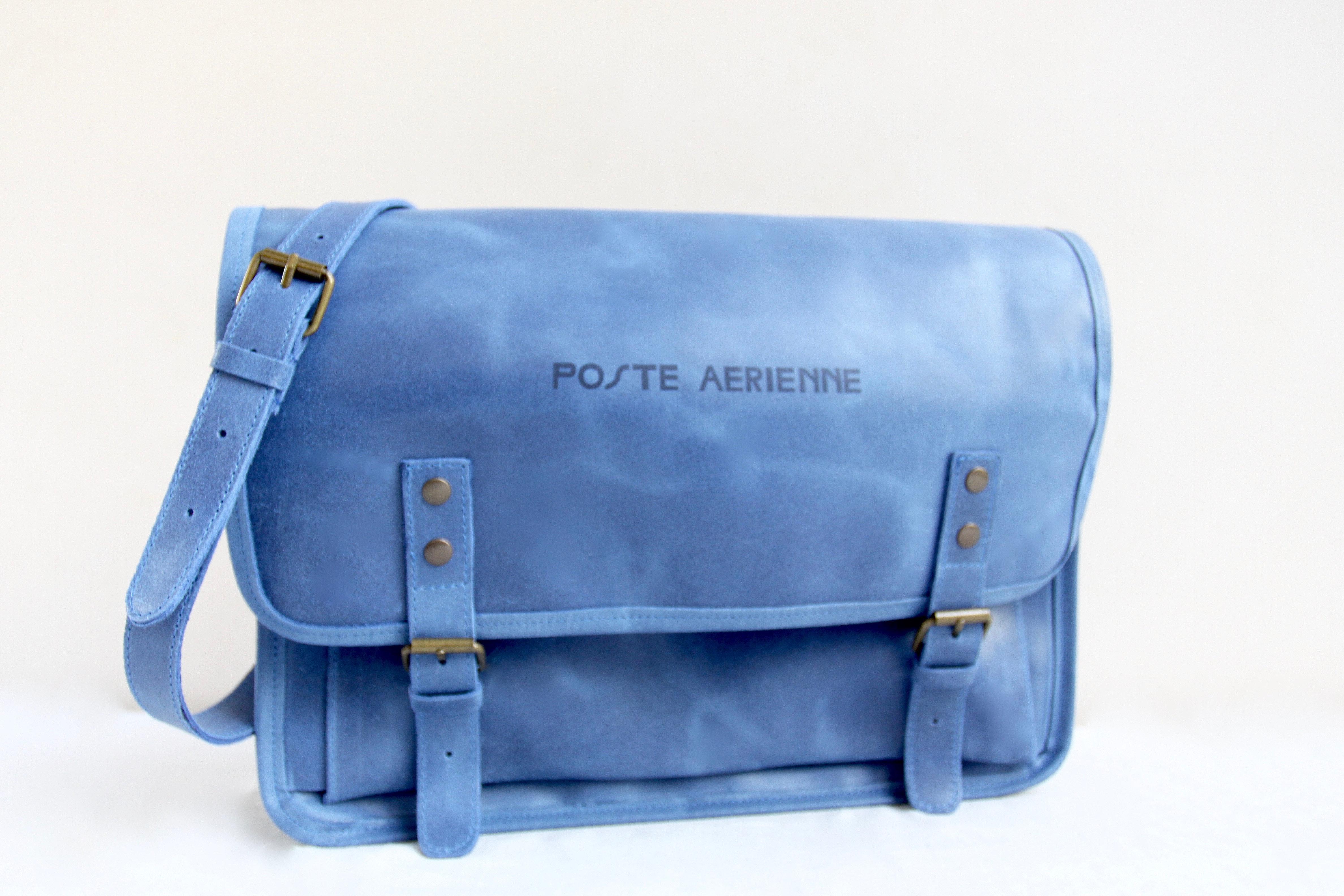 Aérienne Aérienne Cuir Sacoche Aérienne Poste Poste Poste Sacoche Sacoche Bleu Cuir Bleu q34Ljc5AR