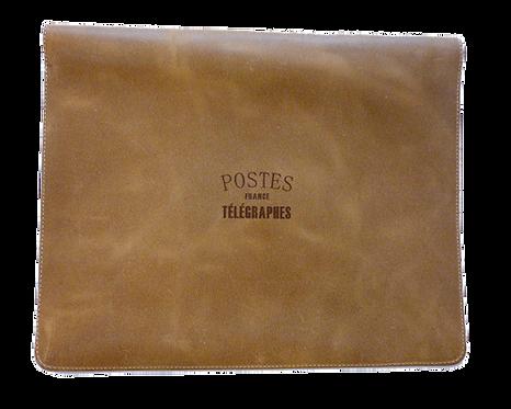 Pochette Enveloppe cuir camel