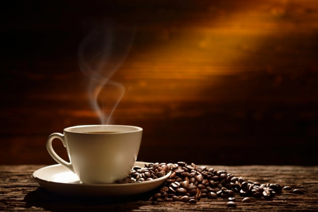 coffee-cup-coffee-beans-old-wooden-backg