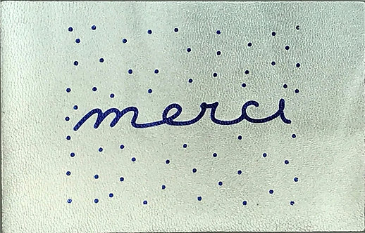 "POSTCARDS ""merci"" SILVER"