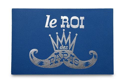 """CARTE POSTALE """"le ROI des PAPAS"""" BLEU"""